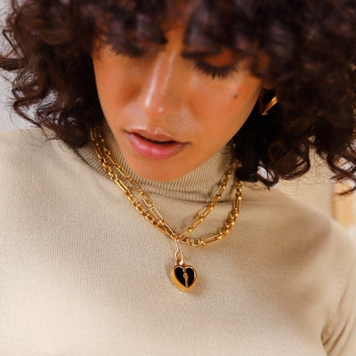 Engravable Heart Locket Clip-On Pendant