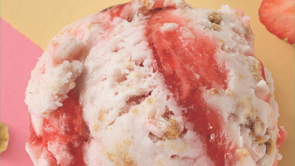 Baskin-Robbins' May 2021 flavor, Non-Dairy Strawberry Streusel, is made with oat milk.