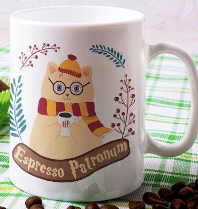 CutePetArt Espresso Patronum Cute Hairy Pawter Mug