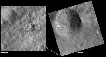 rubria crater vesta