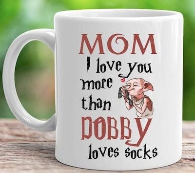BeKindST Dobby Loves Socks Mug
