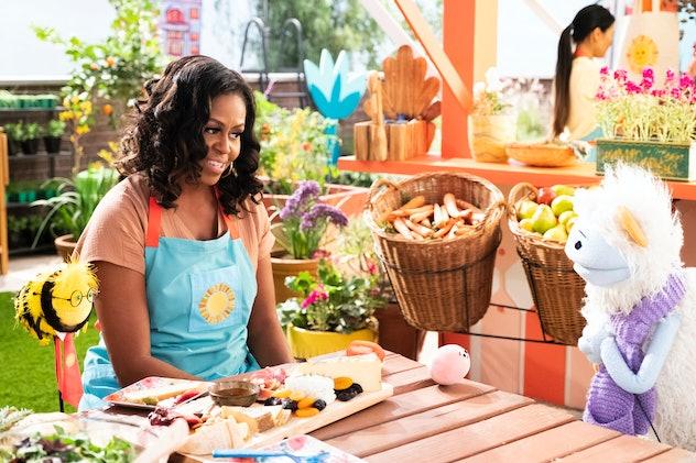 Michelle Obama stars in the adorable Netflix original series, 'Waffles + Mochi.'