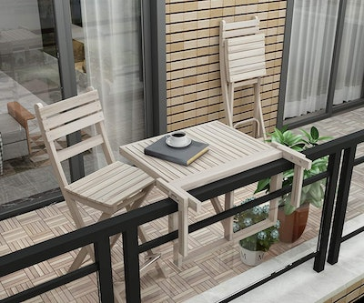Interbuild Stockholm Folding Balcony Deck Table