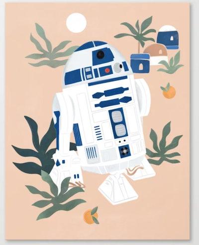 """Keep Calm and Droid On"" Canvas Print"