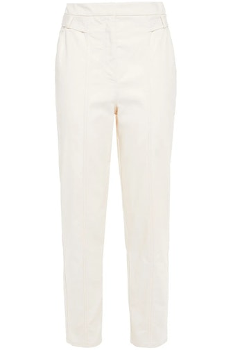 Claudia Cotton-Blend Canvas Tapered Pants