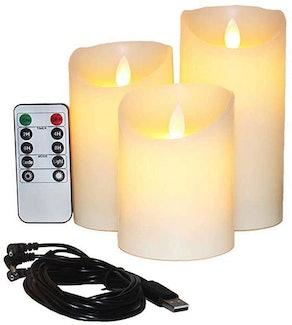 Autbye Flameless Candles (Set Of 3)