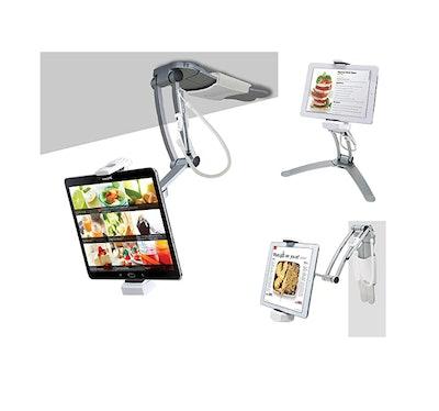 CTA Digital: 2-in-1 Kitchen Tablet Stand Wall/Desktop Mount