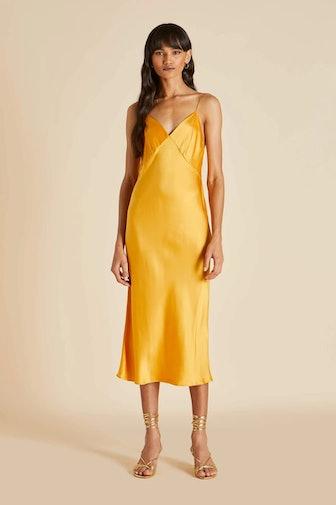 Issa Clementine Silk Slip Dress