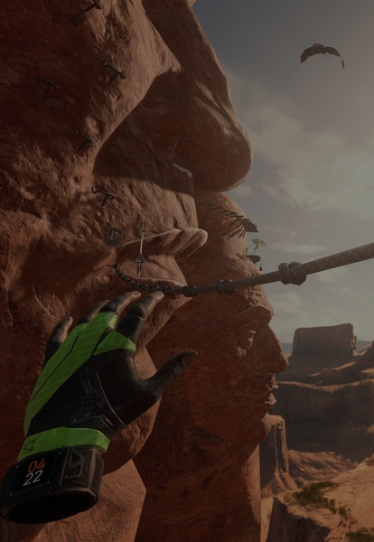 screenshot of hands reaching for rope from the climb 2