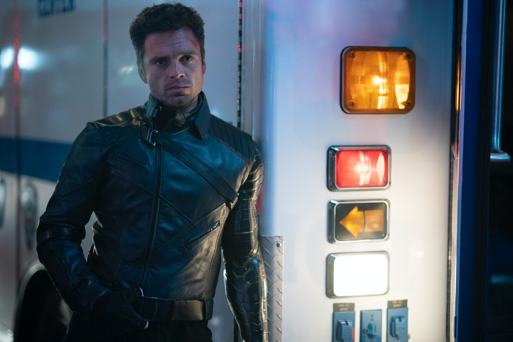 Sebastian Stan as Bucky Barnes in The Falcon and the Winter Soldier Episode 6