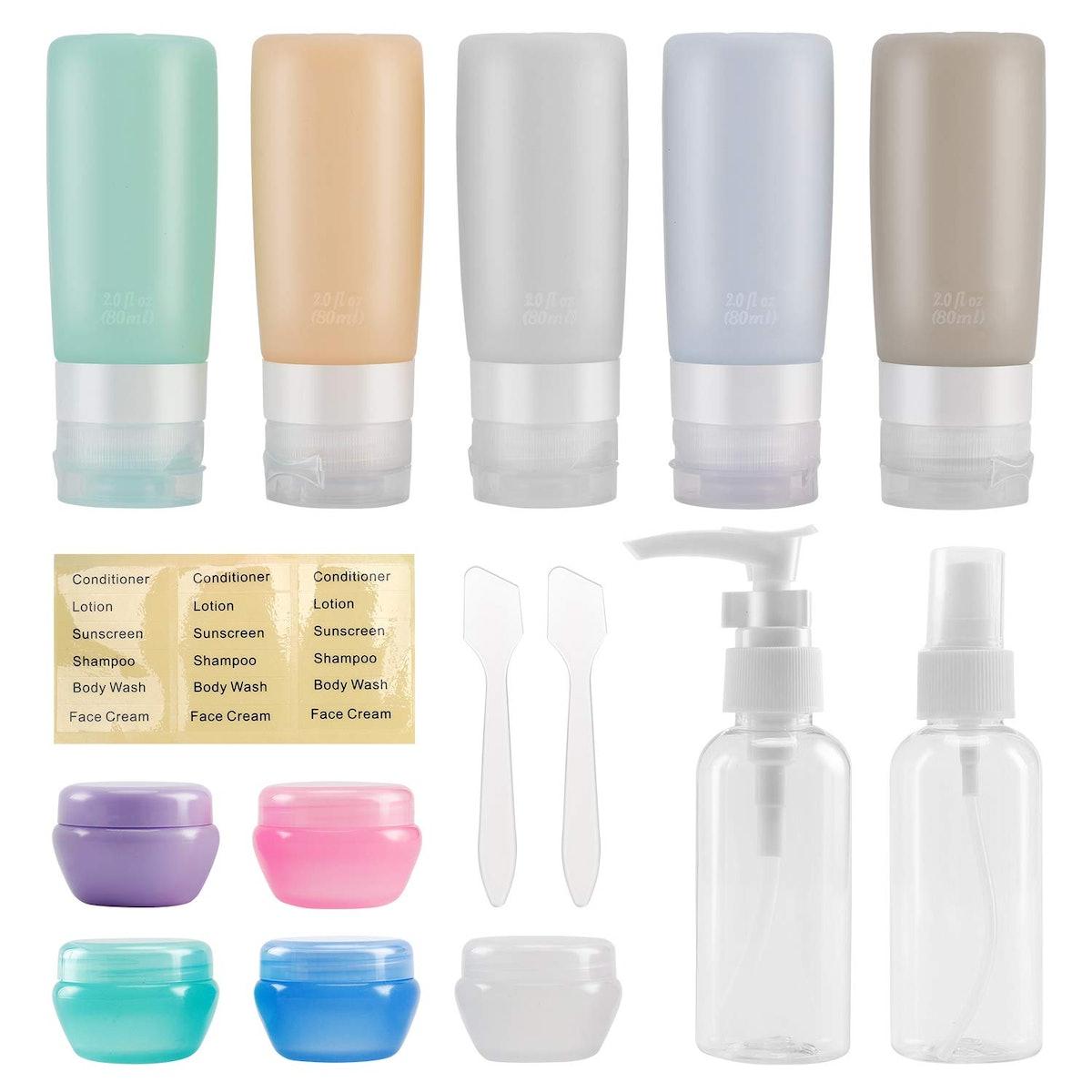 Beveetio Travel Bottles (15-Pack)