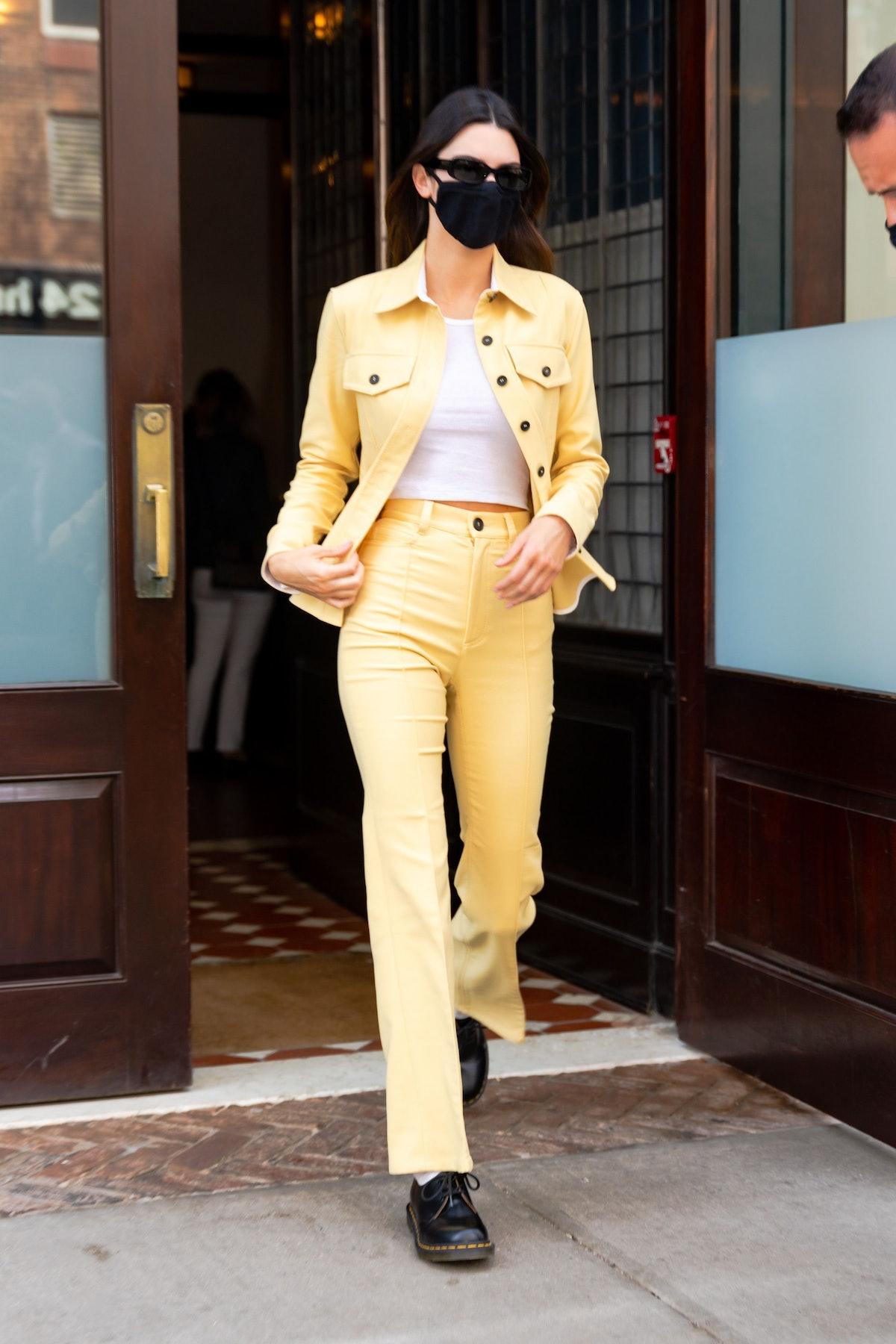 Kendall Jenner wearing yellow