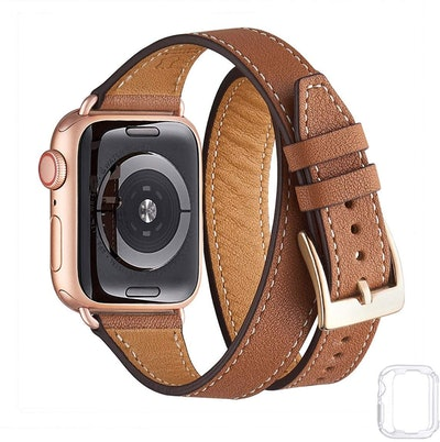 Bestig Leather Double-Tour Apple Watch Band