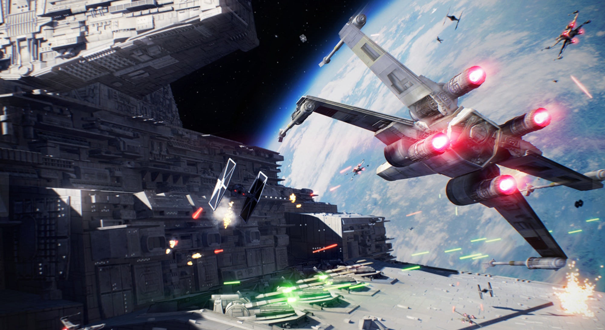 space combat from star wars squadrons
