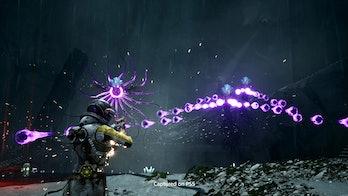 returnal combat selene shoots squid orbs