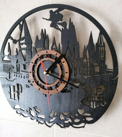 Handcrafted Pro Studio Witchcraft and Wizardry Clock