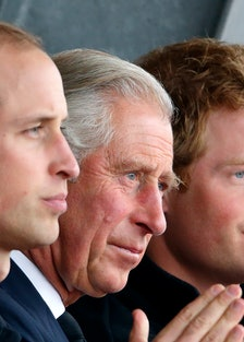 Princes William, Charles and Harry.