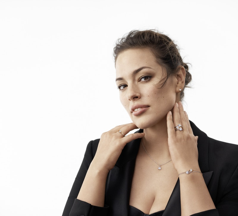 Ashley Graham models the Pandora Brilliance Collection