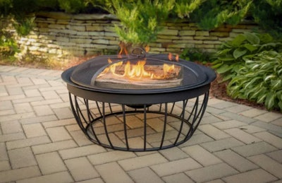 "Pleasant Hearth Mason 30"" Round Wood Burning Fire Pit"