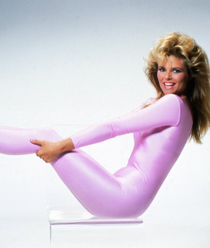 workout woman in spandex