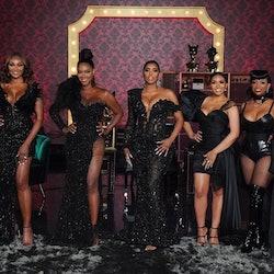 Cynthia Bailey, Kenya Moore, Porsha Williams, Drew Sidora, Kandi Burruss at the 'RHOA' Season 13 reunion via Bravo's press site