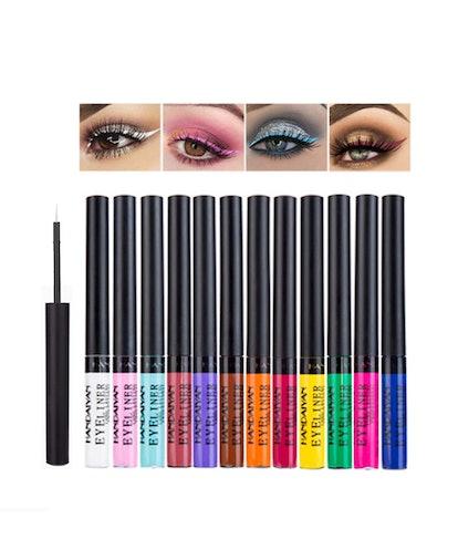 Emirde Colorful Liquid Eyeliner Set (12-Pack)