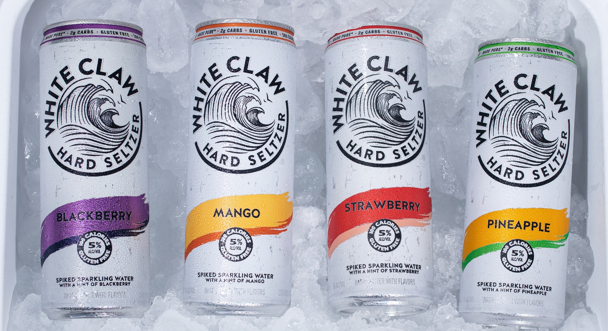 The hard seltzer has 5% ABV whereas White Claw Surge contains 8% ABV.