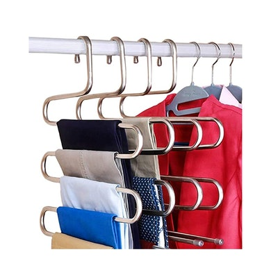 DOIOWN S-Type Stainless Steel Clothes Hangers