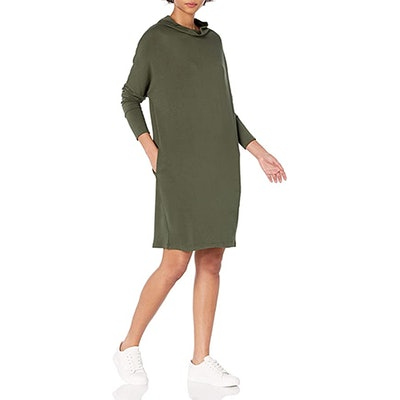 Daily Ritual Terry Oversized Funnel-Neck Dress