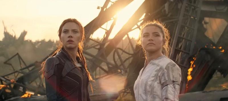 Scarlett Johansson's as Black Widow (aka Natasha Romanoff) & Florence Pugh as Yelena Belova in the 'Black Widow' trailer via YouTube