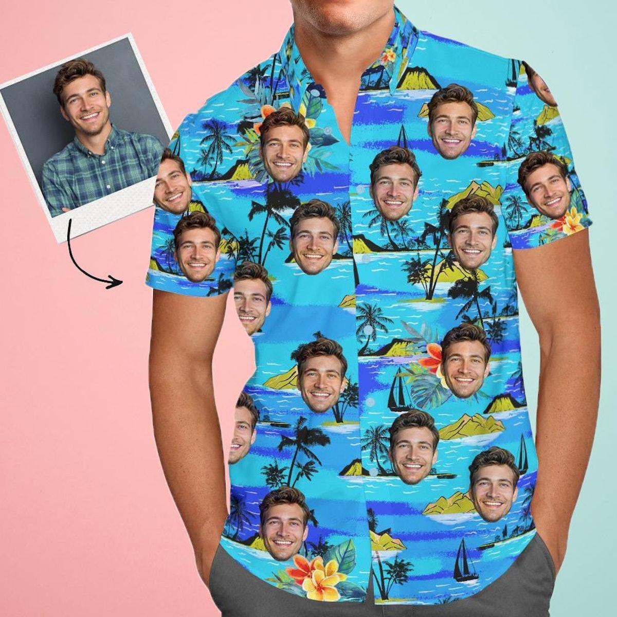 FaceSocks Vice City Custom Face Hawaiian Shirt