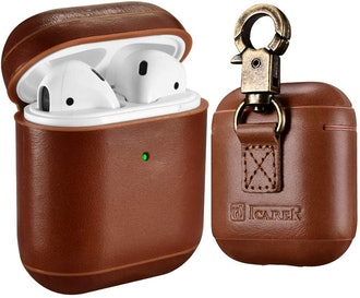 ICARER Genuine Leather AirPod case