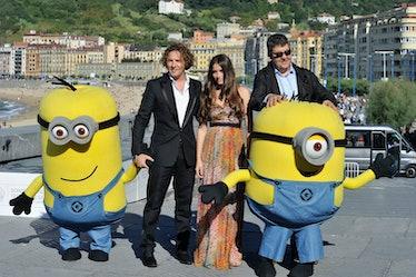 "Spanish singer Dabid Bisbal (L), actress Ana de Armas (C) and Florentino Fernandez (R) attend ""Gru,..."