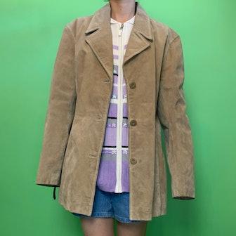 Vintage Tan Suede Jacket