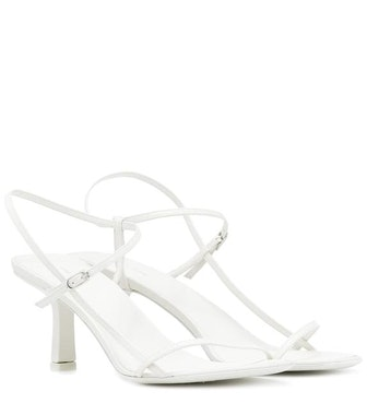 Bright White Leather Sandals