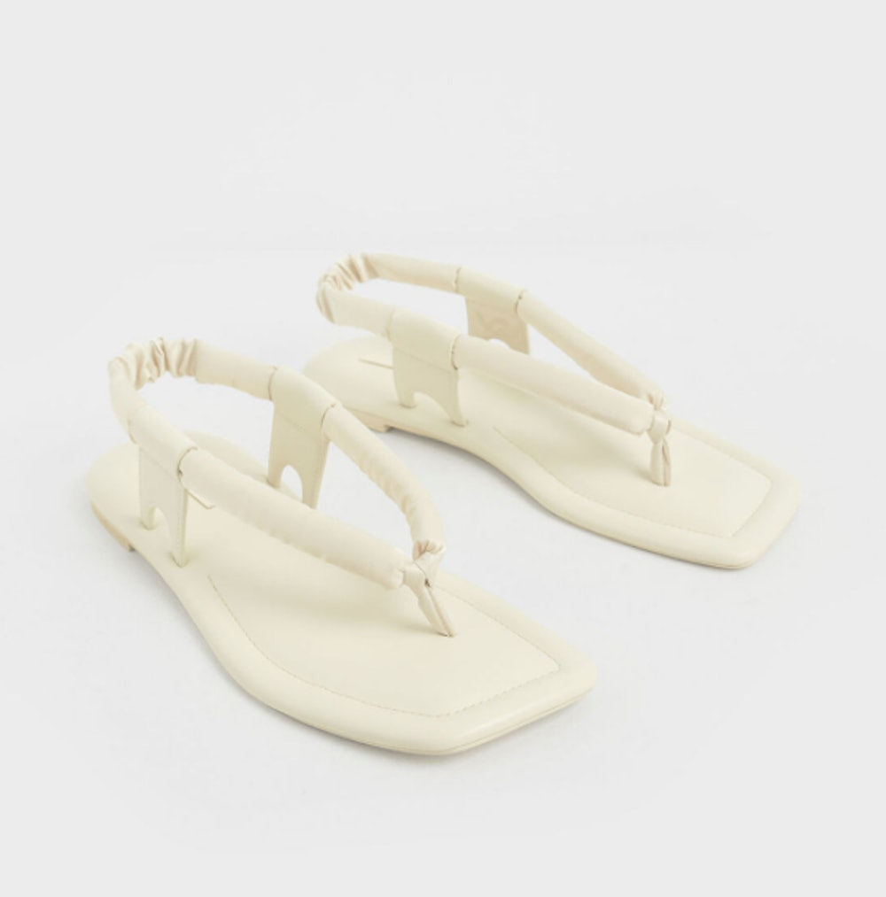 Puffy Strap Thong Sandals