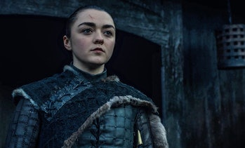 Maisie Williams as Arya Stark in Game of Thrones Season 8