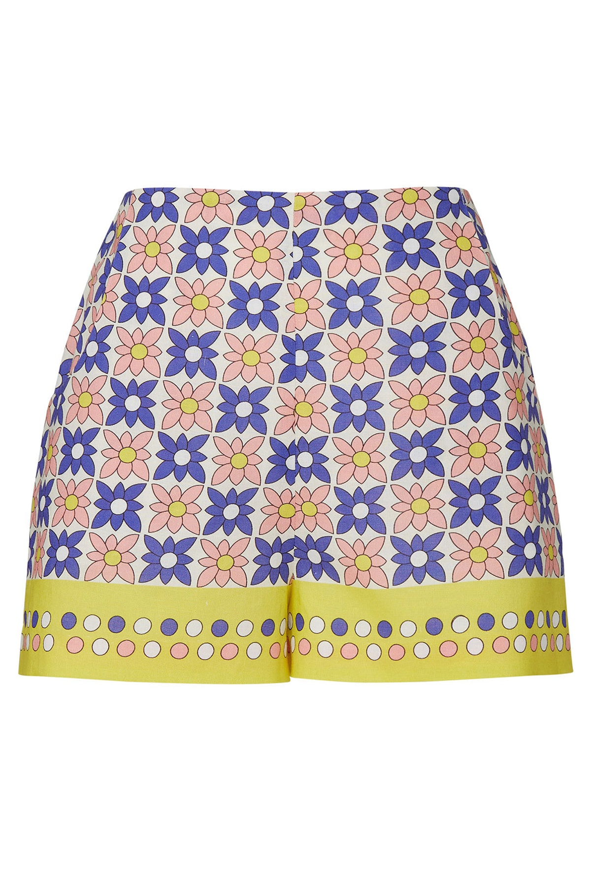 Daisy Field High Waisted Shorts