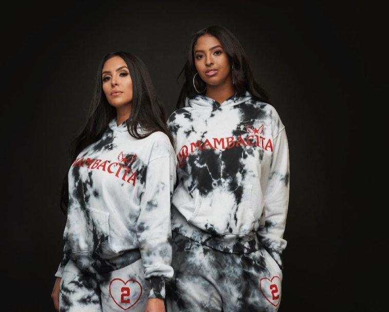 Vanessa Bryant and Natalia Bryant wearing Mambacita