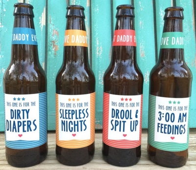 PaprikaPaperie First Time Dad Beer Labels