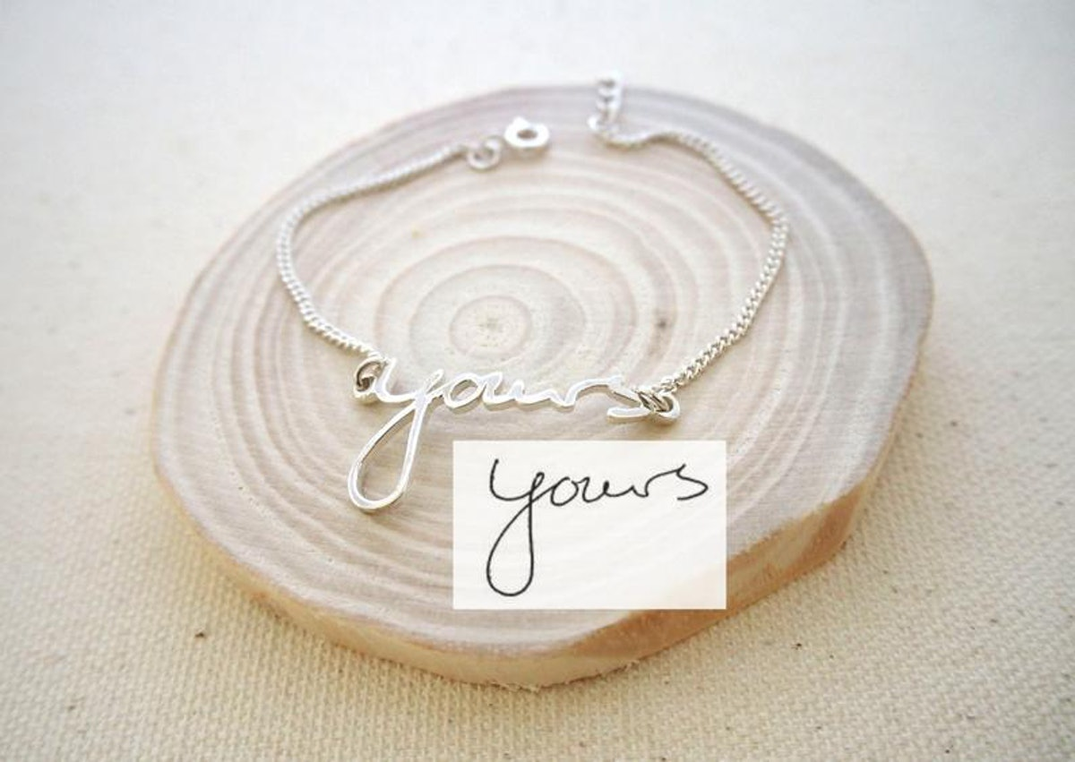 CaitlynMinimalist Handwriting Bracelet