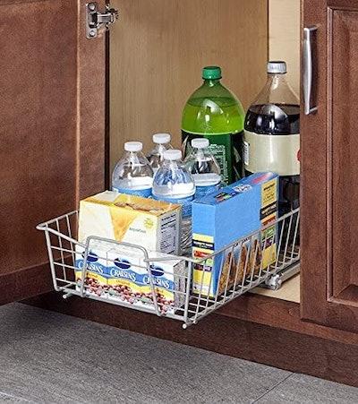 ClosetMaid 11-Inch Wide Cabinet Organizer, Nickel