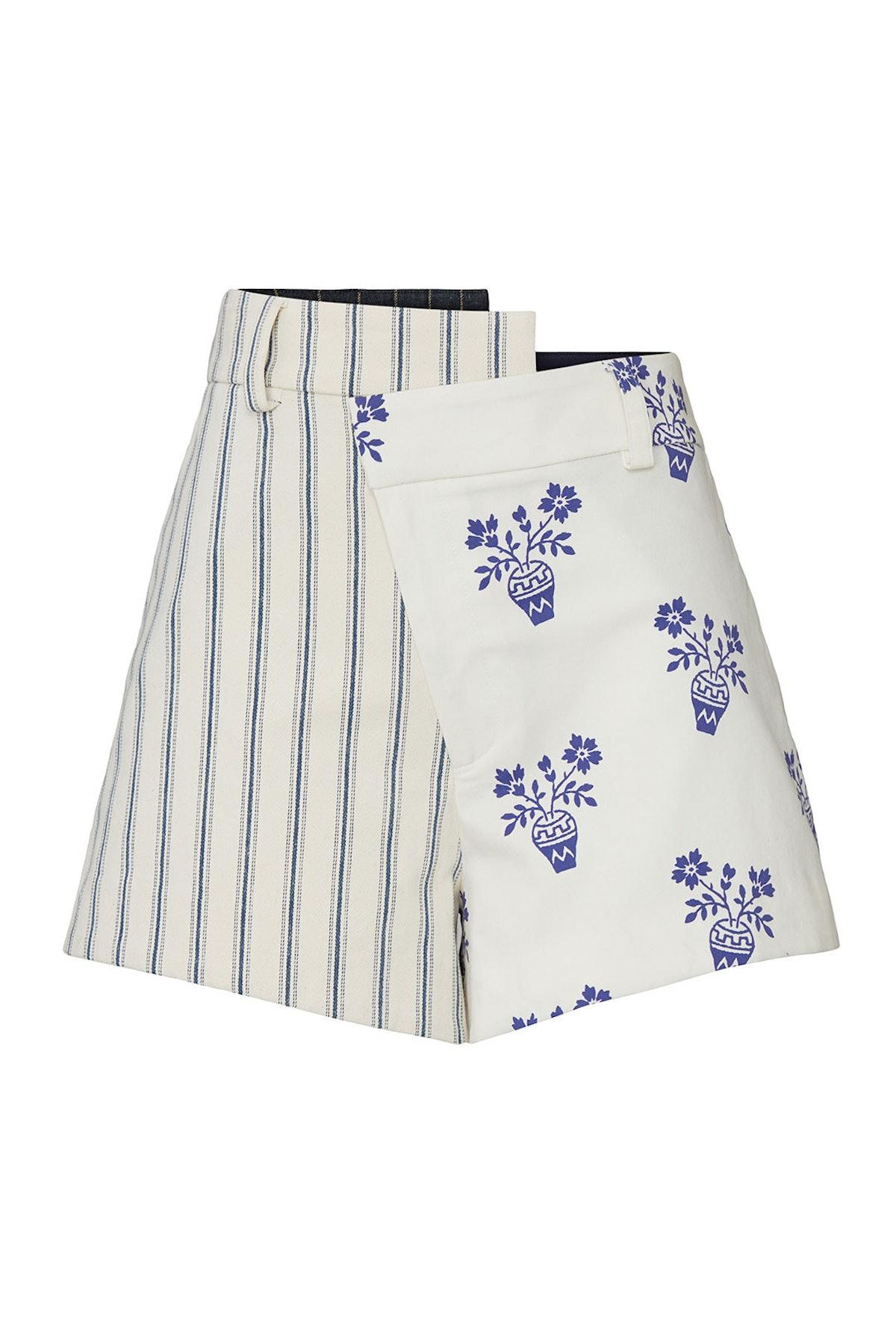 Flower Pot Striped Shorts
