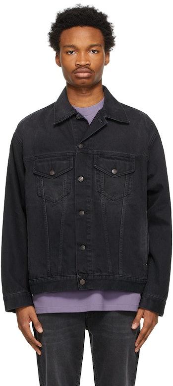 Acne Studios Black Denim Washed Jacket