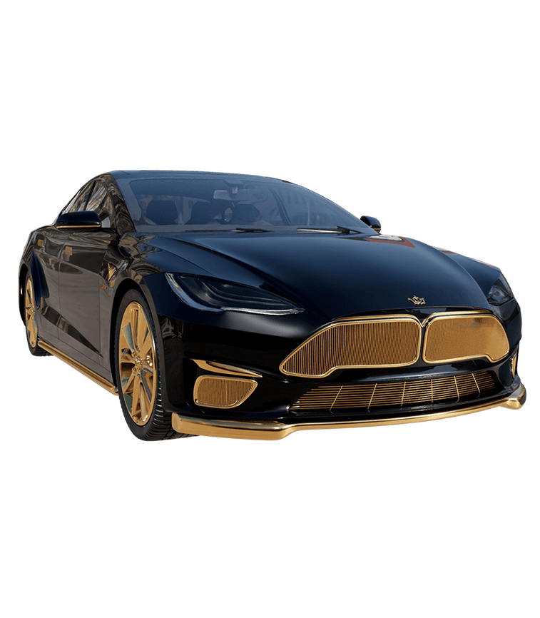 A Tesla Model S Plaid designed by Caviar. Electric vehicles. EV. Electric cars. EVs. Automotive. Elon Musk.