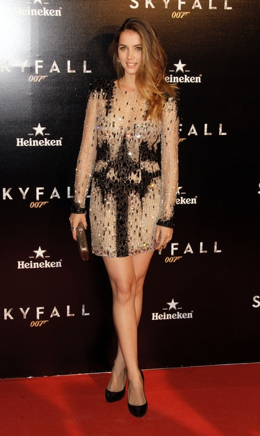 Ana de Armas attends the 'Skyfall' photocall premiere at Santa Ana Square on October 29, 2012 in Mad...