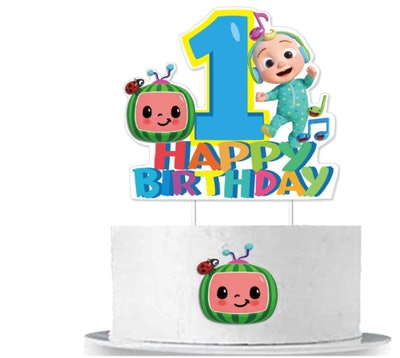 CoComelon Cake Topper for First Birthday