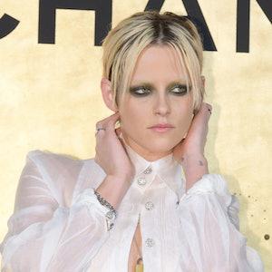 kristen stewart with bleach blonde brows