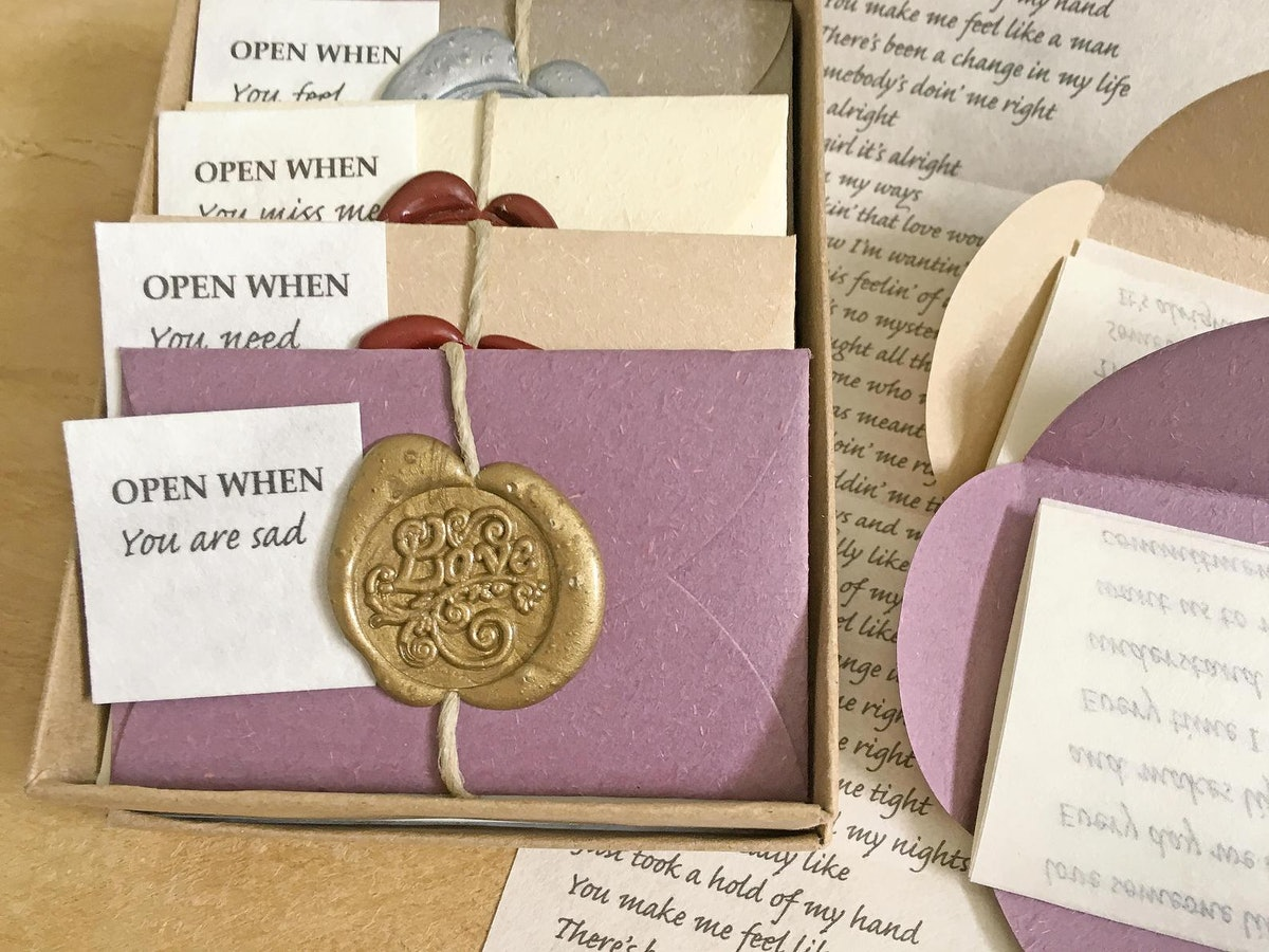 PaperJewelryDesign Personalized Open When Letters