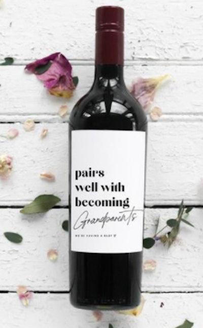 Wine Label Pregnancy Reveal
